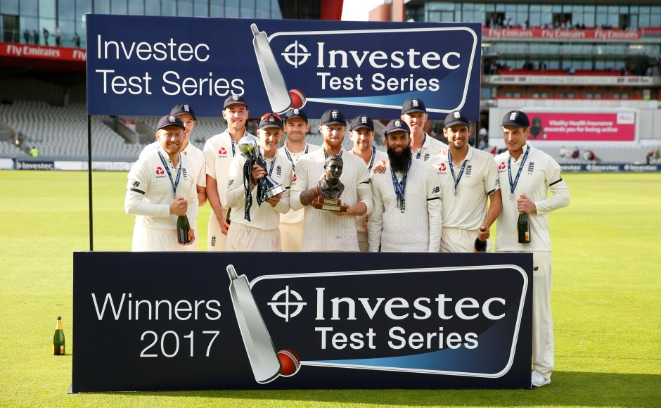 England defeatd South Africa by 177 runs at Old Trafford to win the Test series 3-1 and thus, ending a 19-year drought at home against the Proteas. Reuters
