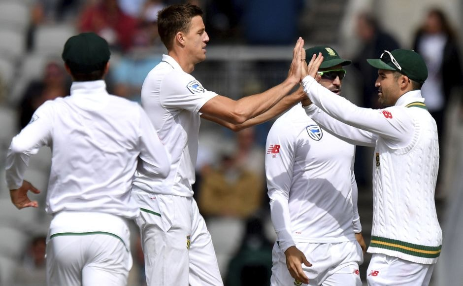 England were all out for 243 in the 2nd innings early on Day 4 at Old Trafford with Morne Morkel finishing with figures of 4-41. AP