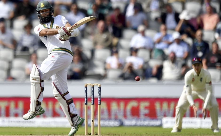 Hashim Amla mounted a fight back with a 100-ball fifty. He twice forced Stokes off the back foot for two stylish fours, before lofting Ali for six. AP