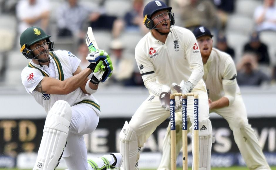 Faf du Plessis (61) and Hashim Amla (83) shared a stand of 123 runs between them to give the Proteas a bit of hope. AP