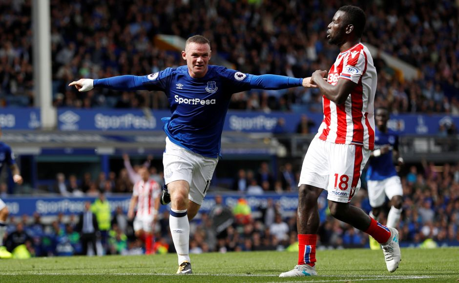 Wayne Rooney marked his Premier League return in Everton colours in perfect fashion with the winning goal in a 1-0 victory over Stoke City at Goodison Park on Saturday. Reuters