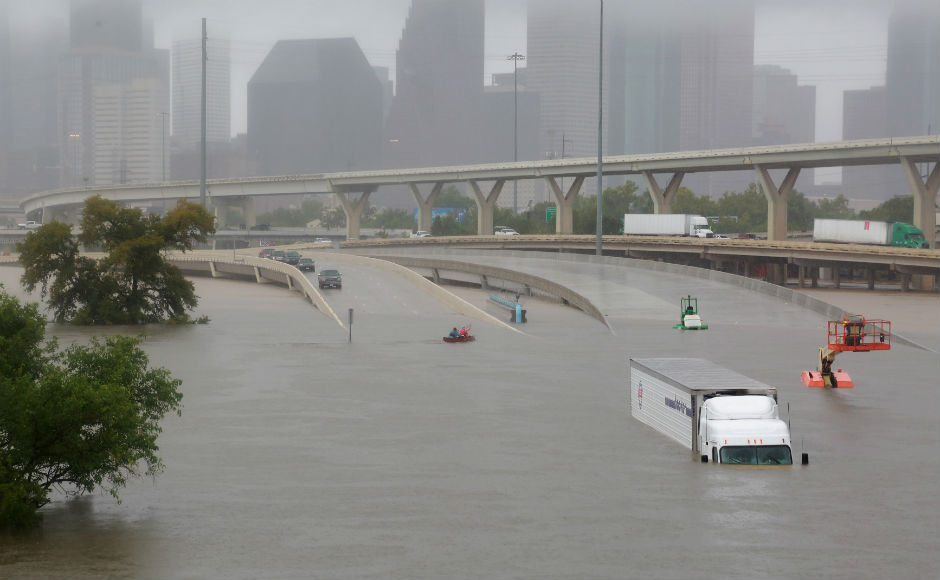 Floodwaters from Hurricane Harvey, which has already killed at least seven people in Texas and was expected to drive tens of thousands from their homes, will likely rise in the coming days, officials warned on Tuesday. Reuters