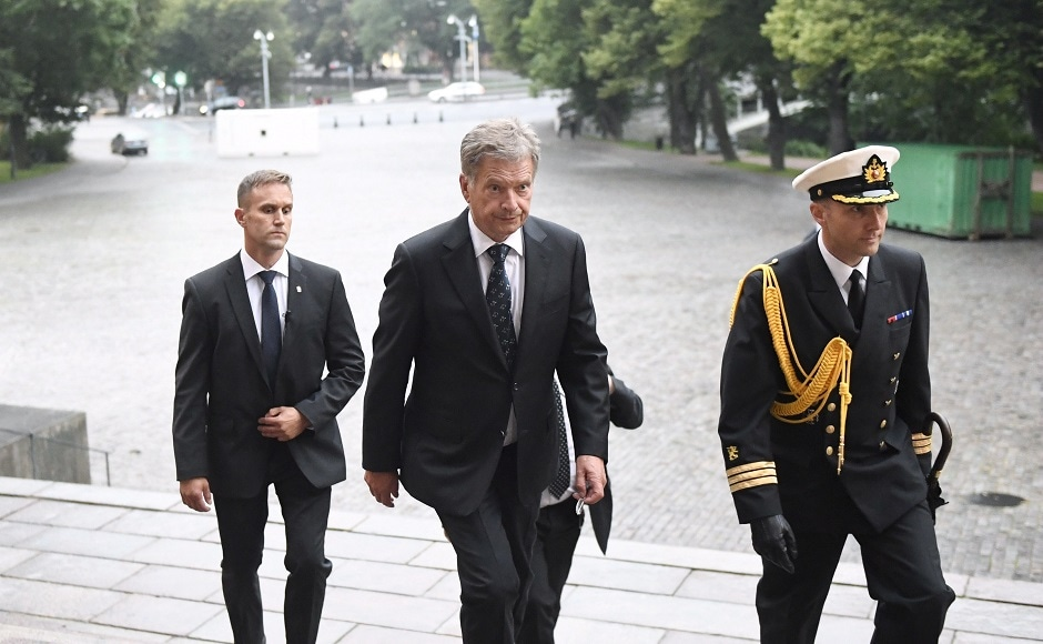 Finnish president Sauli Niinist arrived in Turku and condemned the attack as a