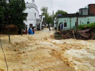 File image of the Bihar floods. PTI