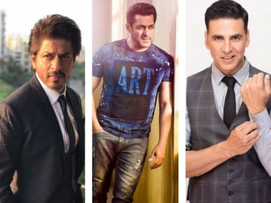 Shah Rukh Khan, Salman Khan and Akshay Kumar on Forbes list of 2017's top 10 highest-paid actors in the world. Images via Facebook