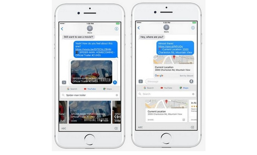 New features in GBoard iOS app