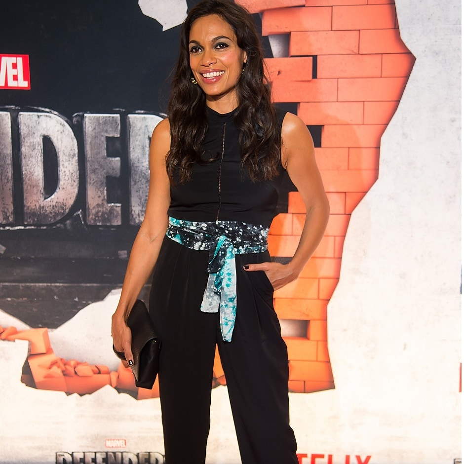 NEW YORK, NY - 31 JULY: Actress Rosario Dawson attends the 'Marvel's The Defenders' New York premiere at Tribeca Performing Arts Center on 31 July, 2017 in New York City. (Photo by Michael Stewart/Getty Images)