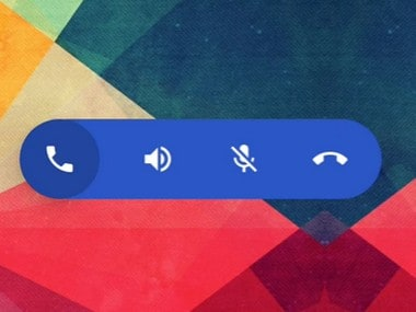 The in-call floating button. 9to5Google
