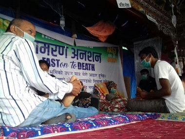 A file image of protesters on hunger strike. Firstpost/Upendra Mani Pradhan