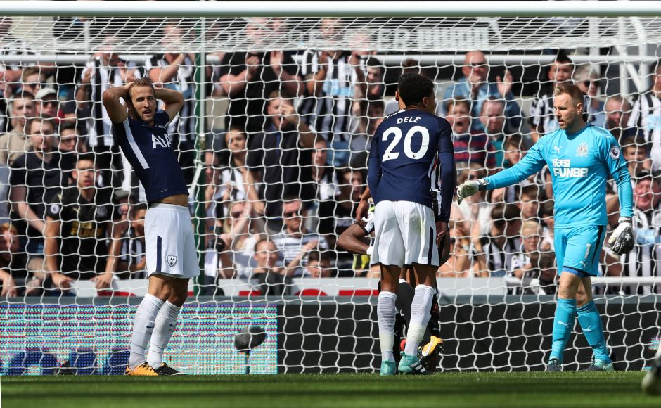 Harry Kane couldn't score as he continued his astonishing run of never scoring a goal for Spurs in the month of August. Reuters