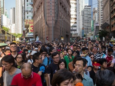 Protesters Hong Kongers Rally Against Pro-Democracy Activists Jail Sentence. Gettyimages
