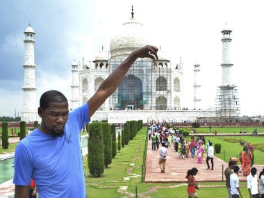 Kevin Durant was in India to promote basketball. AP