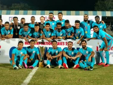 India are the Tri-Nation series 2017 champions. Image Courtest: Twitter/@IndSuperLeague