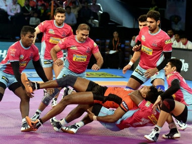 U Mumba were no match to Jaipur Pink Panthers. PTI