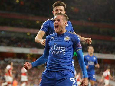 File image of Leicester City's Jamie Vardy. AP