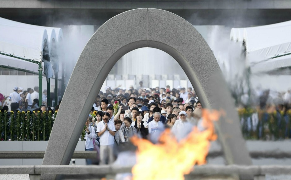 Japan on Sunday marked 72 years since the world's first nuclear attack on Hiroshima, with the nation's traditional contradictions over atomic weapons again coming into focus. AP