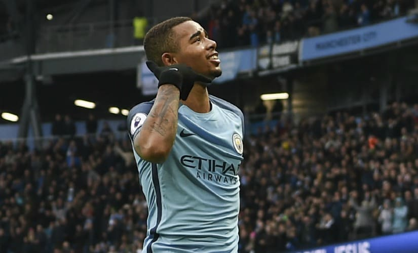 Gabriel Jesus had a sensational start to his Manchester City career only to be plagued by an injury. AFP