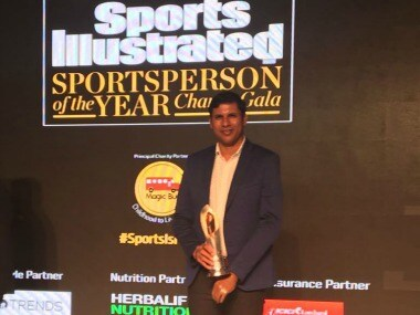 Deepak Jhajharia was Honoured with Editor's Award for Excellence at Sports Illustrated. twitter.com/@DevJhajharia