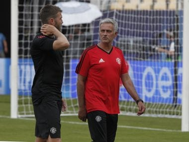 File image of Jose Mourinho and Micheal Carrick. AP