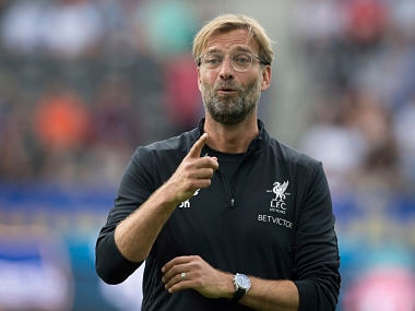 File image of Liverpool manager Juergen Klopp. AP