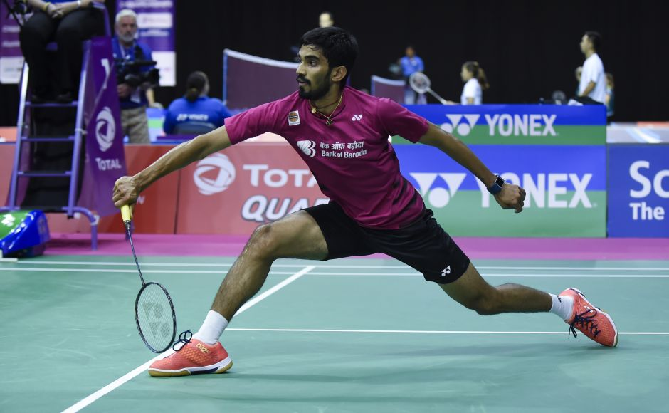 Kidambi Srikanth comfortably won his first match against Russia's Sergey Sirant. AFP