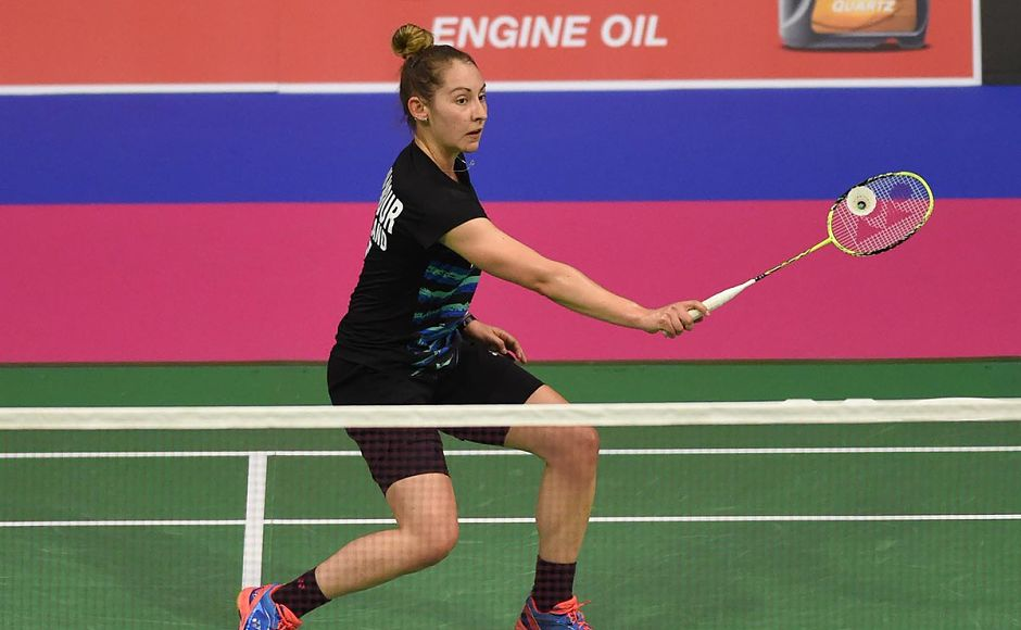 Kristy Gilmour won against India's Rituparna Das in just 42 minutes. Image courtesy: @AnneSmillie_CEO