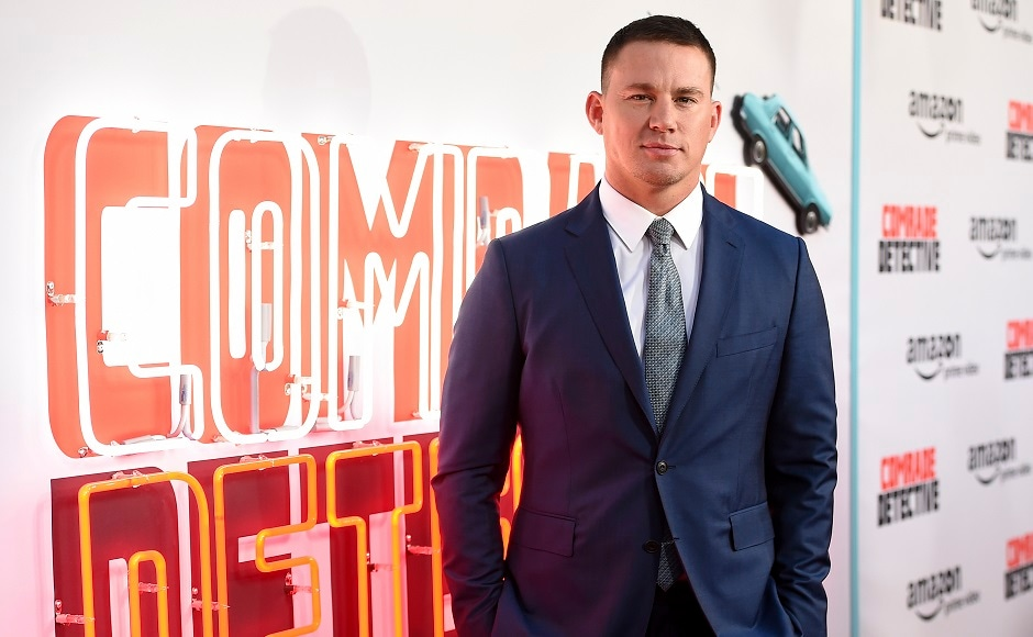 Channing Tatum arrives at the Los Angeles premiere of Comrade Detective. Photo by AP