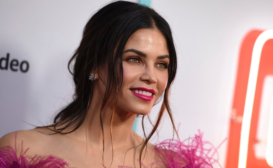 Jenna Dewan Tatum arrives at the Los Angeles premiere of Comrade Detective. Photo by AP