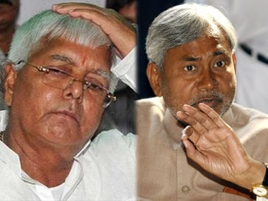 File image of Lalu Prasad Yadav and Nitish Kumar. IBNlive