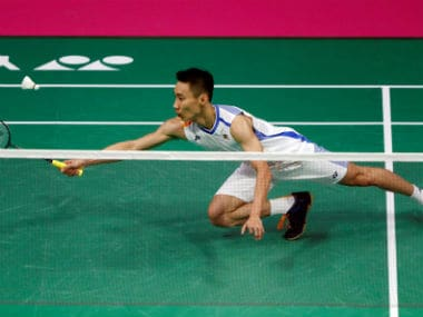 Lee Chong Wei during his second-round clash against Brice Leverdez. Reuters
