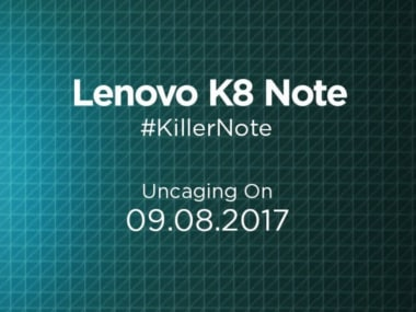 The invite for the Lenovo K8 Note launch event