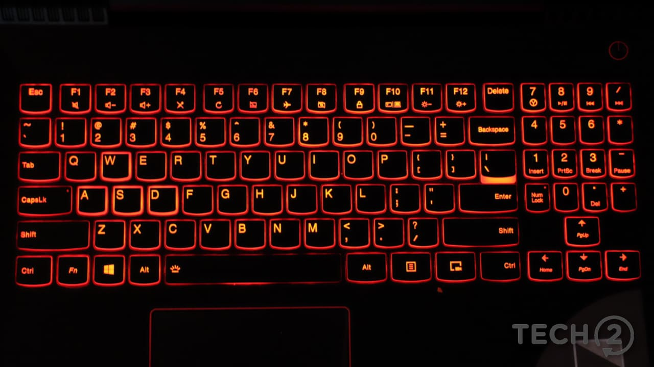 The keyboard is backlit in red. Note the unusual layout of the numpad  sc 1 st  Firstpost & Lenovo Legion Y520 gaming laptop review: A consistent performer at ... azcodes.com