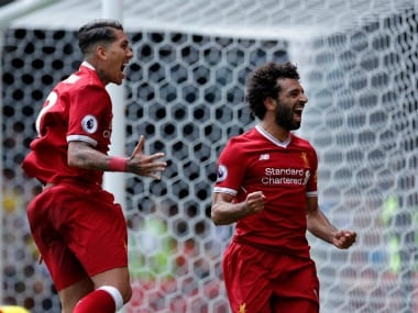 Mohamed Salah scored on his Premier League debut for Liverpool.  Reuters