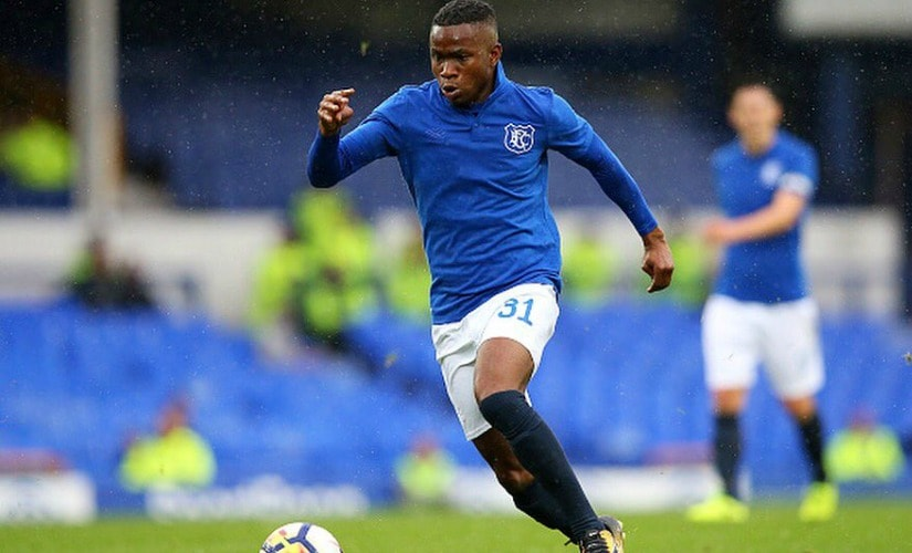 Ademola Lookman burst onto the scene by scoring against Manchester City in his debut for Everton. Twitter/@Alookman_