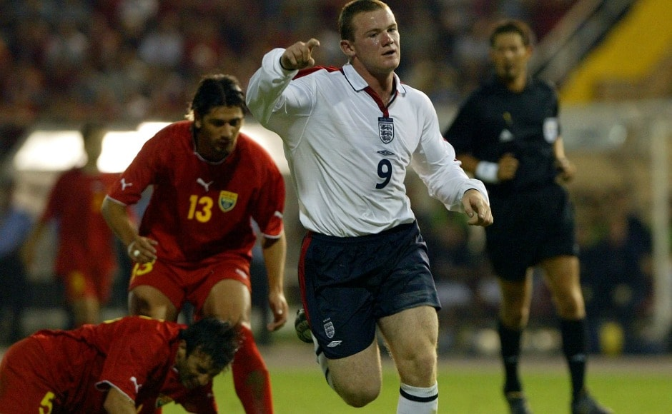 His first goal for England came against Macedonia, making him the youngest goal scorer of country's history. AFP