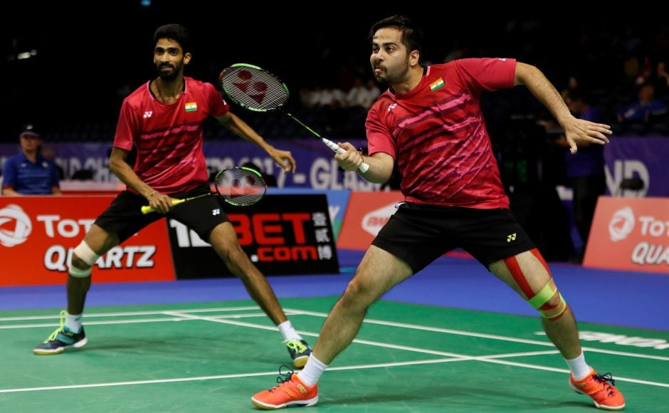 India's Manu Attri and B Sumeeth Reddy played South Korea's Chung Eui Seok and Kim Duk-young in their first match. Reuters