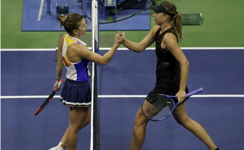 Sharapova received a wild card to play in her first Grand Slam tournament since returning from a 15-month doping ban. And she made the most of it, ripping 60 winners to Halep's 15 and wearing down the Romanian with punishing groundstrokes. AP