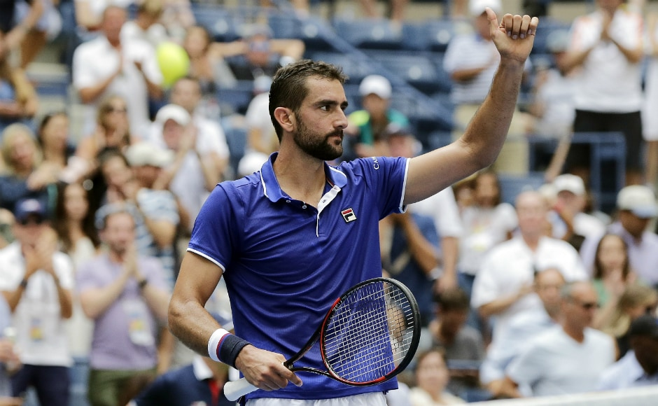 Marin Cilic, the 2014 US Open champion, made it through his opening-round match against aptly named American Tennys Sandgren with a 6-4, 6-3, 3-6, 6-3 victory. AP