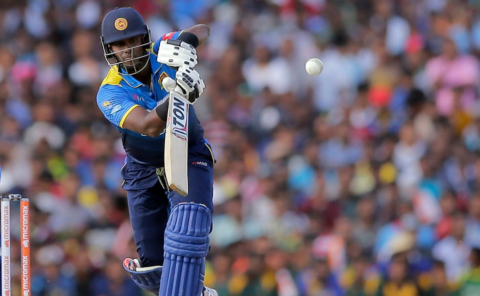 Former Sri Lanka captain Angelo Mathews lost all his partners and remained unbeaten on 36. AP