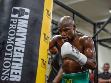 Floyd Mayweather has a boxing record of 49-0. Twitter/@MayweatherPromo