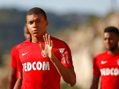 File photo of Kylian Mbappe of AS Monaco. Reuters