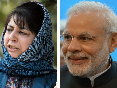 File image of Mehbooba Mufti and Narendra Modi. Reuters/PTI