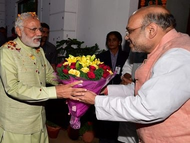 File image of Prime Minister Narendra Modi and BJP chief Amit Shah. PTI