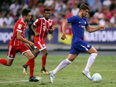 Soccer Football - Chelsea vs Bayern Munich - International Champions Cup - Singapore - July 25, 2017 Chelsea's Alvaro Morata in action REUTERS/Yong Teck Lim - RTX3CTZB