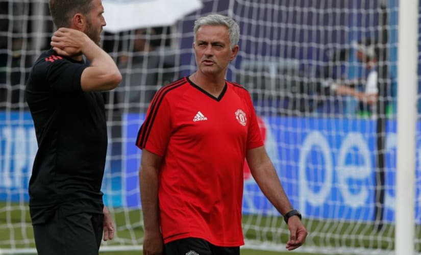 Jose Mourinho got 3/4 targets he wanted before the start of Premier League season, and is happy with current Manchester United squad. AP