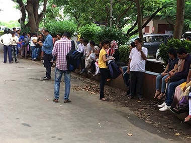 Worried students at Mumbai University. Sanjay Sawant/Firstpost