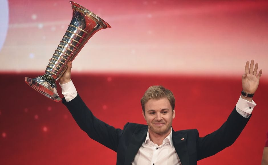 Germany's Nico Rosberg was presented with the Laureus Breakthrough of the Year Award after winning the Formula One World Championship in 2016. Reuters