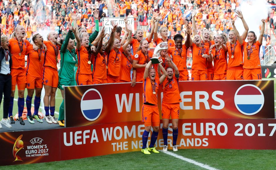 Netherlands registered a 4-2 win over Denmark to clinch their first women's Euro title in Enschede on Sunday. Reuters