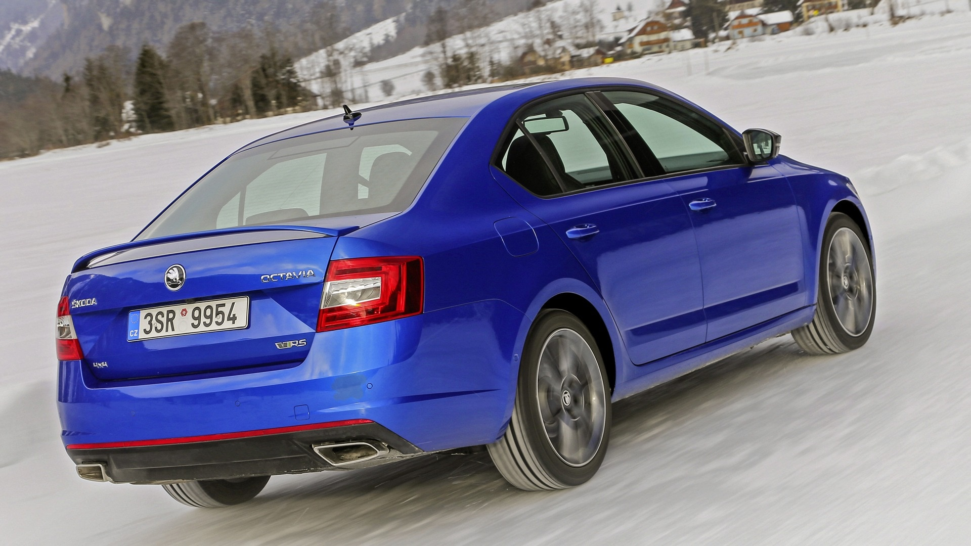 The rear of the Skoda Octavia RS exudes power, without losing on elegance.