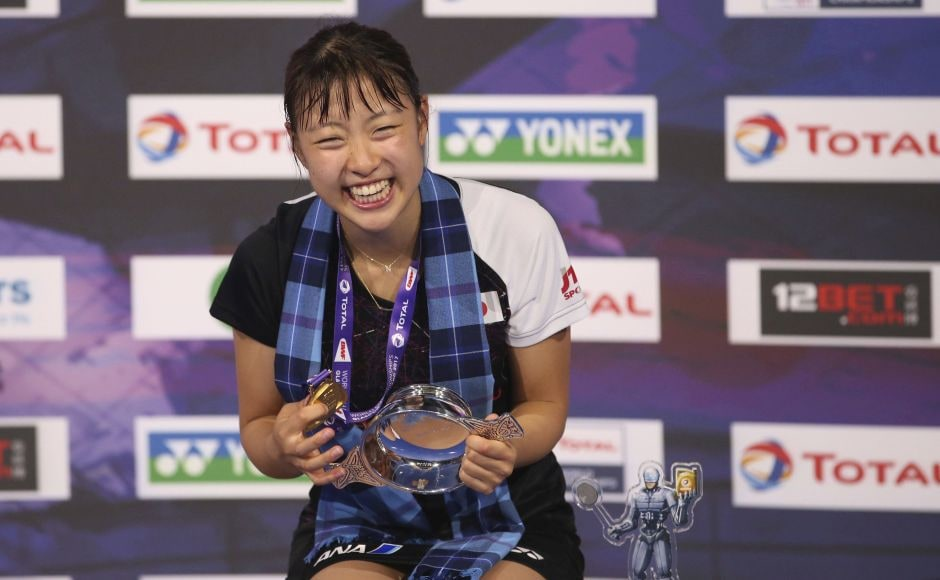Nozomi Okuhara became the first women's singles champion from Japan. AP